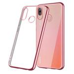 Чехол Yotrix GlitterSoft для Huawei P20 lite (розово-золотистый, гелевый)