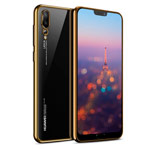 Чехол Yotrix GlitterSoft для Huawei P20 pro (золотистый, гелевый)