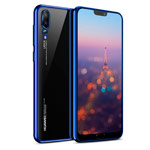 Чехол Yotrix GlitterSoft для Huawei P20 pro (синий, гелевый)