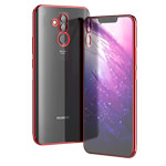 Чехол Yotrix GlitterSoft для Huawei Mate 20 lite (красный, гелевый)