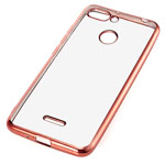 Чехол Yotrix GlitterSoft для Xiaomi Redmi 6 (розово-золотистый, гелевый)