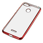 Чехол Yotrix GlitterSoft для Xiaomi Redmi 6 (красный, гелевый)