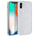 Чехол Yotrix BrightCase для Apple iPhone XS (серебристый, гелевый)