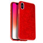 Чехол Yotrix BrightCase для Apple iPhone XS (красный, гелевый)