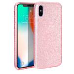 Чехол Yotrix BrightCase для Apple iPhone XS (розовый, гелевый)