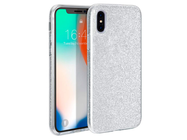 Чехол Yotrix BrightCase для Apple iPhone XS max (серебристый, гелевый)