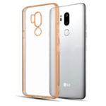 Чехол Yotrix GlitterSoft для LG G7 ThinQ (золотистый, гелевый)