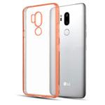 Чехол Yotrix GlitterSoft для LG G7 ThinQ (розово-золотистый, гелевый)
