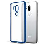 Чехол Yotrix GlitterSoft для LG G7 ThinQ (синий, гелевый)