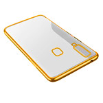 Чехол Yotrix GlitterSoft для Samsung Galaxy A8 star (золотистый, гелевый)