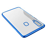 Чехол Yotrix GlitterSoft для Samsung Galaxy A8 star (синий, гелевый)