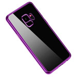 Чехол Yotrix GlitterSoft для Samsung Galaxy S9 (сиреневый, гелевый)