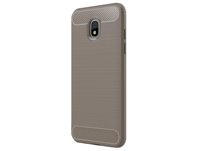 Чехол Yotrix Rugged Armor для Samsung Galaxy J7 2018 (серый, гелевый)