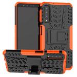 Чехол Yotrix Shockproof case для Samsung Galaxy A7 2018 (оранжевый, пластиковый)