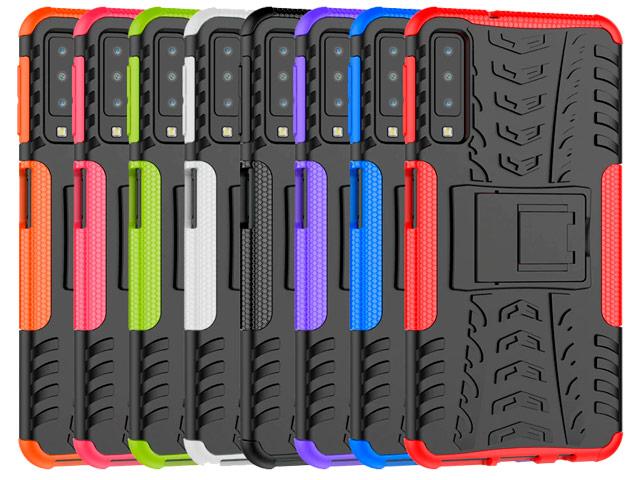 Чехол Yotrix Shockproof case для Samsung Galaxy A7 2018 (розовый, пластиковый)