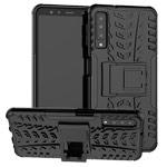 Чехол Yotrix Shockproof case для Samsung Galaxy A7 2018 (черный, пластиковый)