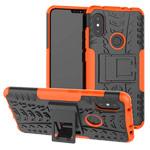 Чехол Yotrix Shockproof case для Xiaomi Redmi Note 6 (оранжевый, пластиковый)