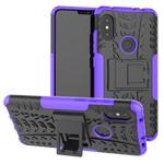Чехол Yotrix Shockproof case для Xiaomi Redmi Note 6 (фиолетовый, пластиковый)