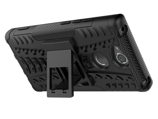 Чехол Yotrix Shockproof case для Sony Xperia XA2 plus (оранжевый, пластиковый)
