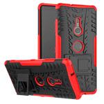 Чехол Yotrix Shockproof case для Sony Xperia XZ3 (красный, пластиковый)