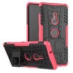 Чехол Yotrix Shockproof case для Sony Xperia XZ3 (розовый, пластиковый)