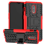 Чехол Yotrix Shockproof case для OnePlus 6T (красный, пластиковый)