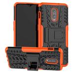 Чехол Yotrix Shockproof case для OnePlus 6T (оранжевый, пластиковый)