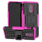 Чехол Yotrix Shockproof case для OnePlus 6T (розовый, пластиковый)