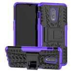 Чехол Yotrix Shockproof case для OnePlus 6T (фиолетовый, пластиковый)