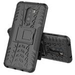 Чехол Yotrix Shockproof case для Xiaomi Pocophone F1 (черный, пластиковый)