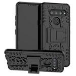 Чехол Yotrix Shockproof case для LG V40 ThinQ (черный, пластиковый)