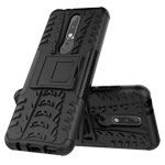 Чехол Yotrix Shockproof case для Nokia 3.1 plus (черный, пластиковый)