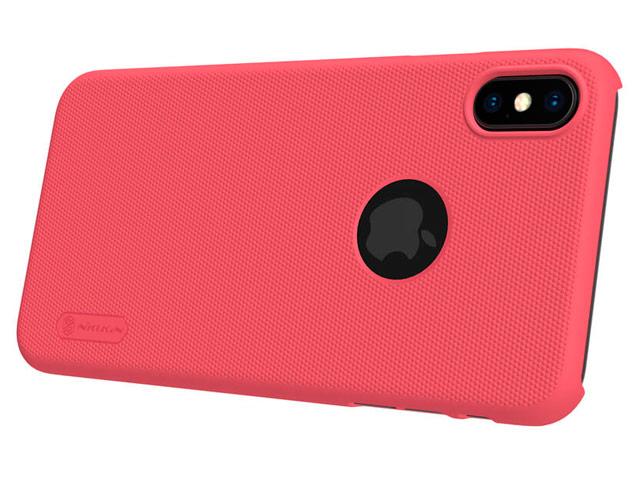 Чехол Nillkin Hard case для Apple iPhone XS max (красный, пластиковый)