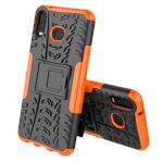 Чехол Yotrix Shockproof case для Samsung Galaxy A6s (оранжевый, гелевый)