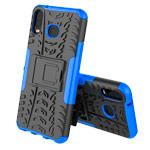 Чехол Yotrix Shockproof case для Samsung Galaxy A6s (синий, гелевый)