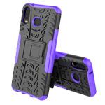 Чехол Yotrix Shockproof case для Samsung Galaxy A6s (фиолетовый, гелевый)