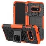 Чехол Yotrix Shockproof case для Samsung Galaxy S10 lite (оранжевый, гелевый)
