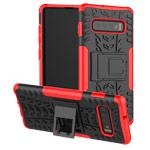 Чехол Yotrix Shockproof case для Samsung Galaxy S10 plus (красный, гелевый)