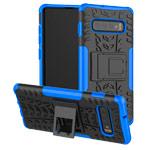 Чехол Yotrix Shockproof case для Samsung Galaxy S10 plus (синий, гелевый)