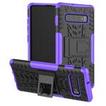 Чехол Yotrix Shockproof case для Samsung Galaxy S10 plus (фиолетовый, гелевый)