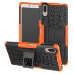 Чехол Yotrix Shockproof case для Sony Xperia L3 (оранжевый, гелевый)