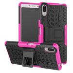 Чехол Yotrix Shockproof case для Sony Xperia L3 (розовый, гелевый)