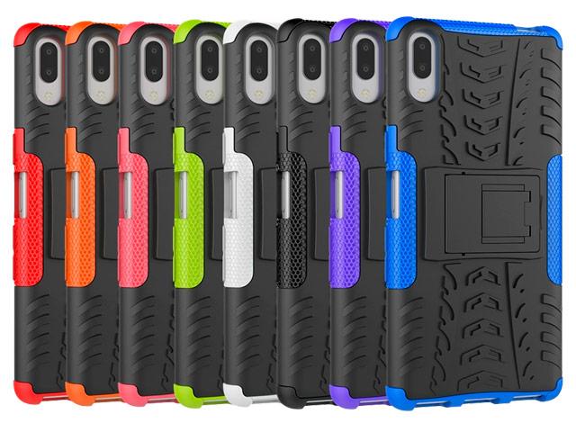 Чехол Yotrix Shockproof case для Sony Xperia L3 (фиолетовый, гелевый)