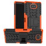 Чехол Yotrix Shockproof case для Sony Xperia 10 (оранжевый, гелевый)