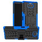Чехол Yotrix Shockproof case для Sony Xperia 10 (синий, гелевый)