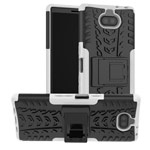 Чехол Yotrix Shockproof case для Sony Xperia 10 plus (белый, гелевый)