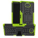 Чехол Yotrix Shockproof case для Sony Xperia 10 plus (зеленый, гелевый)