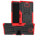 Чехол Yotrix Shockproof case для Sony Xperia 10 plus (красный, гелевый)