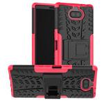 Чехол Yotrix Shockproof case для Sony Xperia 10 plus (розовый, гелевый)