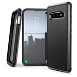 Чехол X-doria Defense Lux для Samsung Galaxy S10 lite (Black Leather, маталлический)